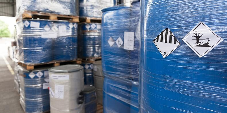 chemicals in warehouse logistics